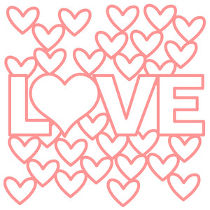 love with hearts background