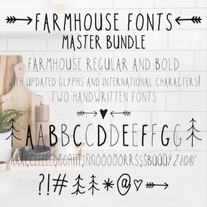 farmhouse font bundle with updates