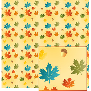 leaves in fall pattern