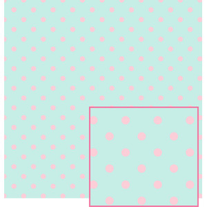 pale aqua and pink polka dot pattern