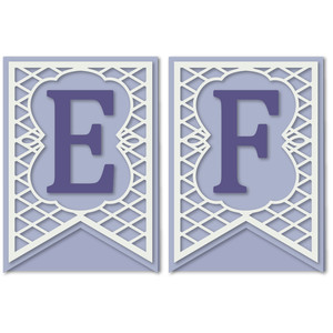 pennant lattice card letters e f