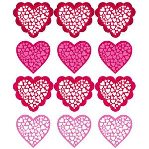 heart cluster stickers