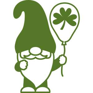 gnome and balloon patricks day