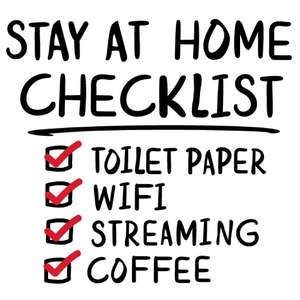 stay at home coffee checklist