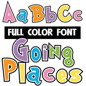 going places color font