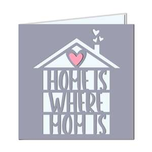'home is where mom is' card