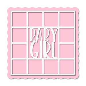 12 photos baby girl layout frame