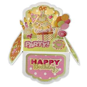 5x7 birthday pop up card in a box