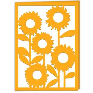 sunflower garden card