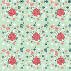 seasons greetings pattern