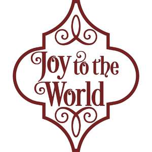 joy to the world arabesque christmas ornament
