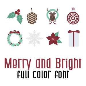 merry and bright full color font