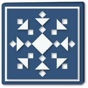 snowflake squares patch quilt card