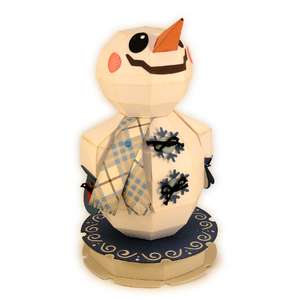 snowman 3d up gazer figure
