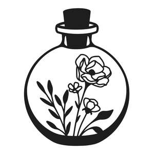 flower round bottle