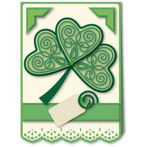 card kit shamrock flourished hearts