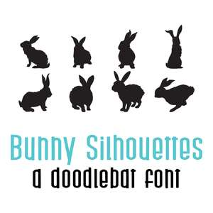 bunny silhouettes doodlebat