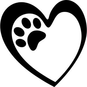 heart and paw frame