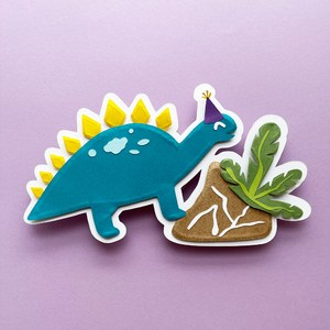 stegosaur party cake topper
