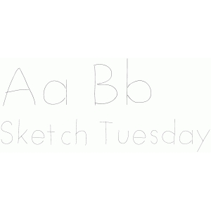 sketch tuesday font