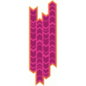 irregular chevron background