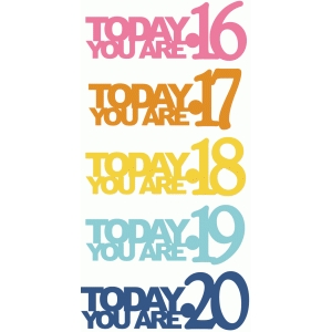 today you are 16-20 birthday