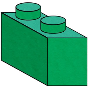 building block - 2 prong