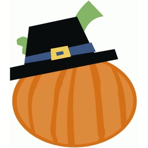 pumpkin with pilgrim hat