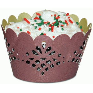 cupcake wrapper set: fancy scallop