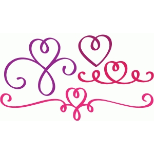 fancy heart flourishes