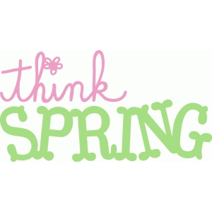 think spring word art