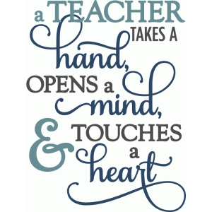 teacher takes a hand - layered phrase
