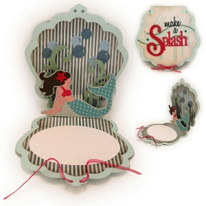 mermaid splash pop up card