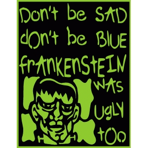 ugly frankenstein card