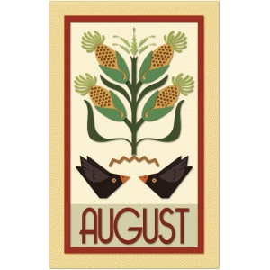 august calendar graphica quilt panel