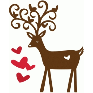 sweet deer with hearts