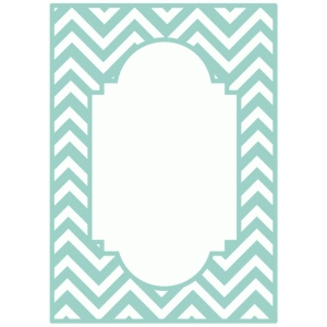 chevron fancy frame card panel / background