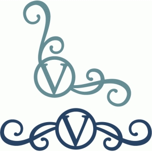 monogram seal flourishes v