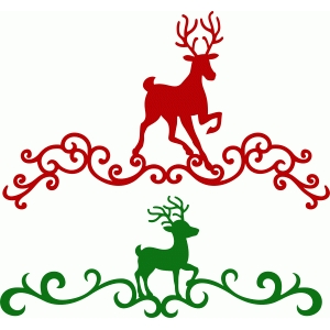 christmas reindeer damask