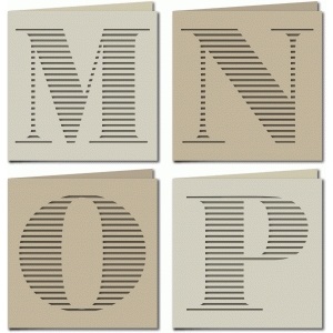 stripe monogram card mnop
