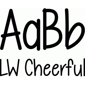 lw cheerful font