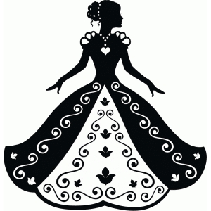 cinderella in ball gown silhouette