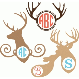 deer monogram set