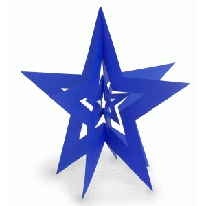 3d nested star plain border small