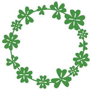 lucky clover wreath garland