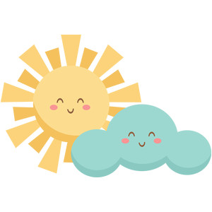 happy sun and cloud