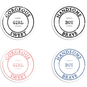 badges - boy + girl