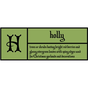 h is for holly pc