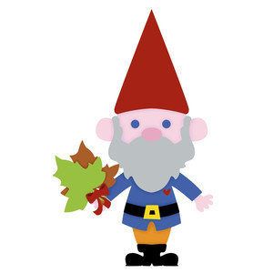 gnome with leaves