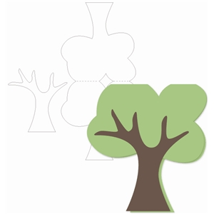 tree shaped card